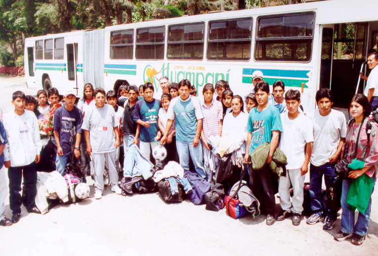 Students from Pampacolca en Huampani Lima