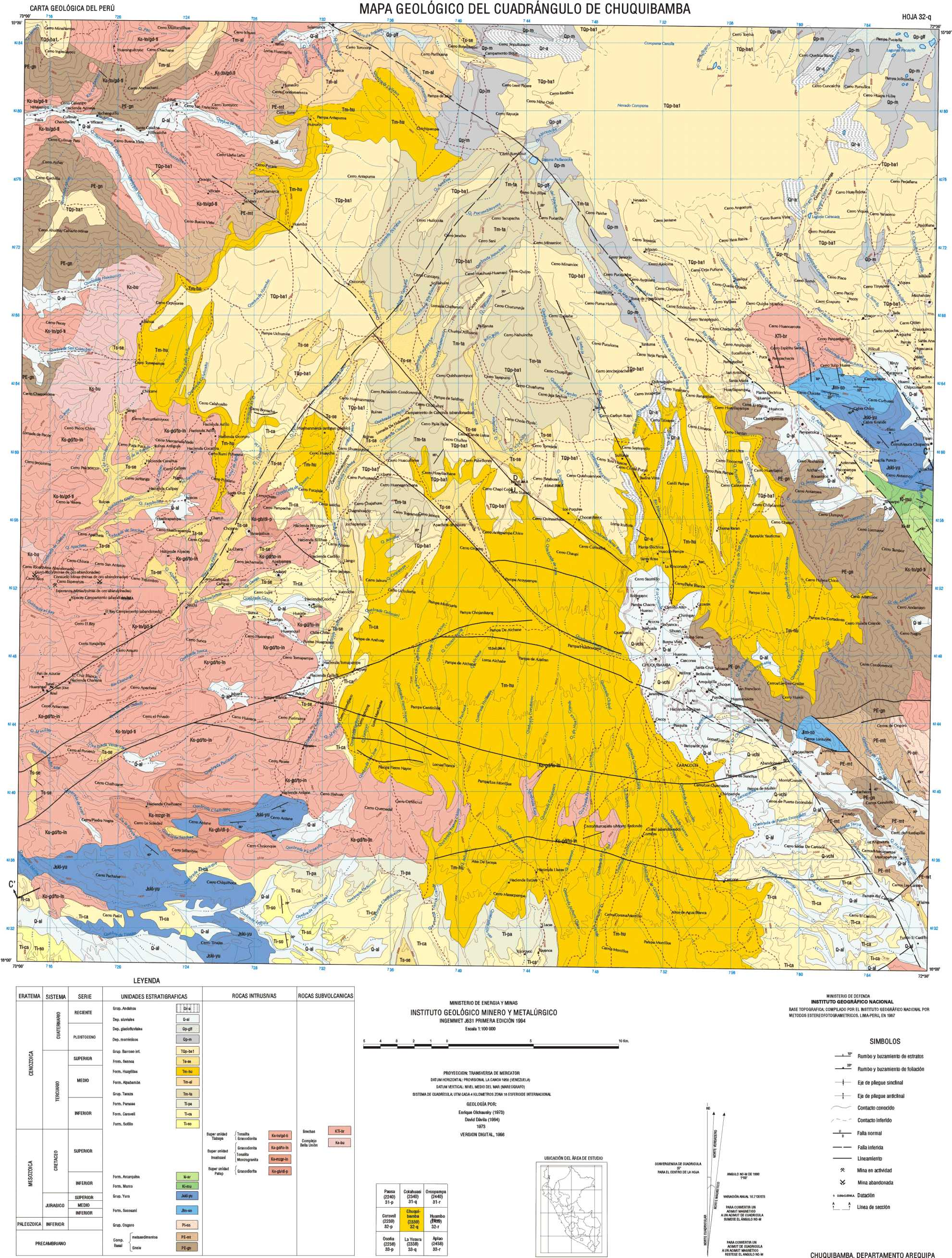 Geological Map of Chuquibamba - Pampacolca